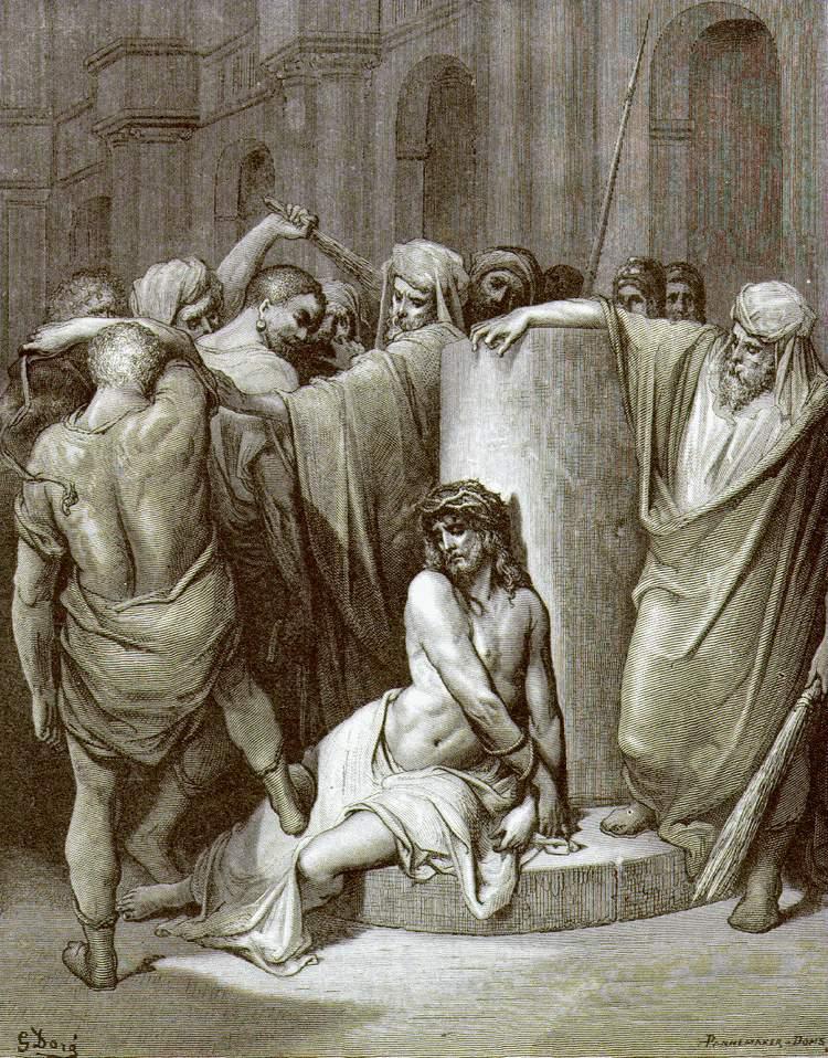 """""""Бичевание Христа"""", Доре"""