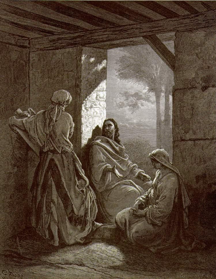 """""""Иисус в доме Марфы и Марии"""", Доре"""