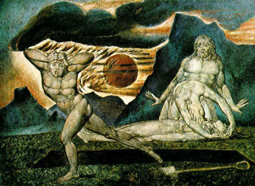"""""""Адам и Ева у тела Авеля"""", Блейк"""