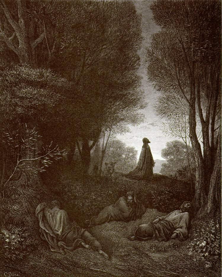 """""""Молитва Христа в Гефсиманском саду"""", Доре"""