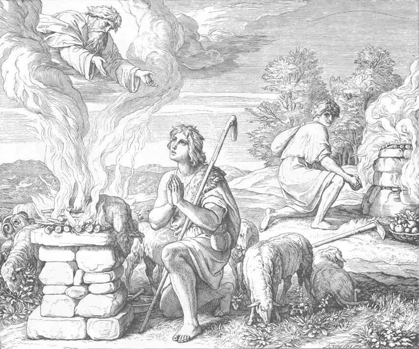 """""""Жертвоприношение Каина и Авеля"""", Шнор"""