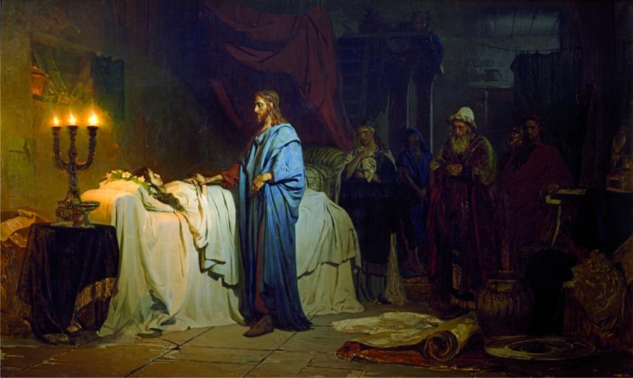 """""""Воскресение дочери Иаира"""", Репин"""