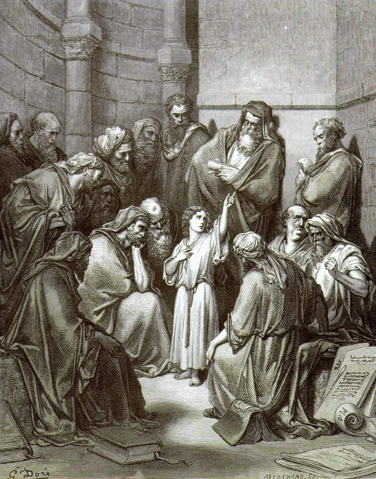 """""""Иисус с учителями"""", Доре"""
