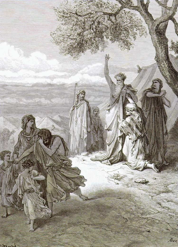 """Ной проклинает Ханаана"", Доре"